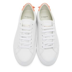 GIVENCHY White & Pink Urban Knots Sneakers